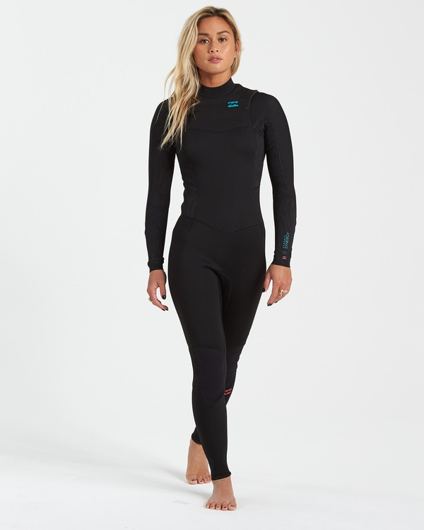 0 3/2 Synergy Chest Zip Wetsuit Black JWFU3BY3 Billabong