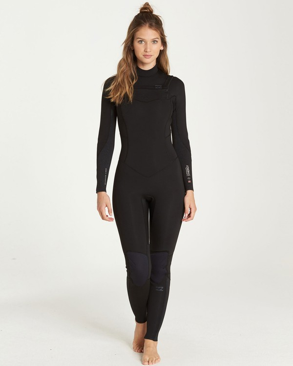 0 3/2 Furnace Synergy Chest Zip Fullsuit Black JWFUQBY3 Billabong