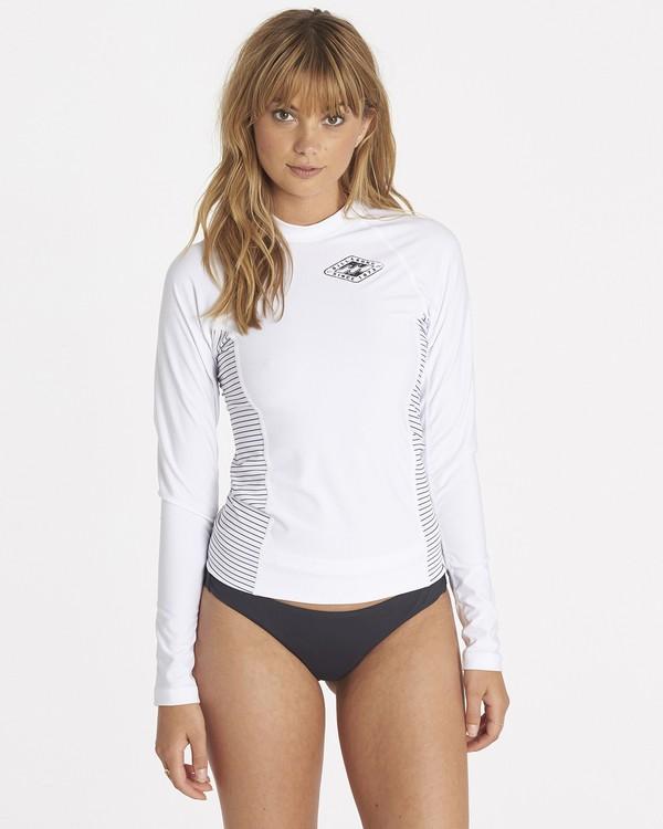 0 Surf Dayz Performance Fit Colorblock Long Sleeve White JWLYJSCL Billabong