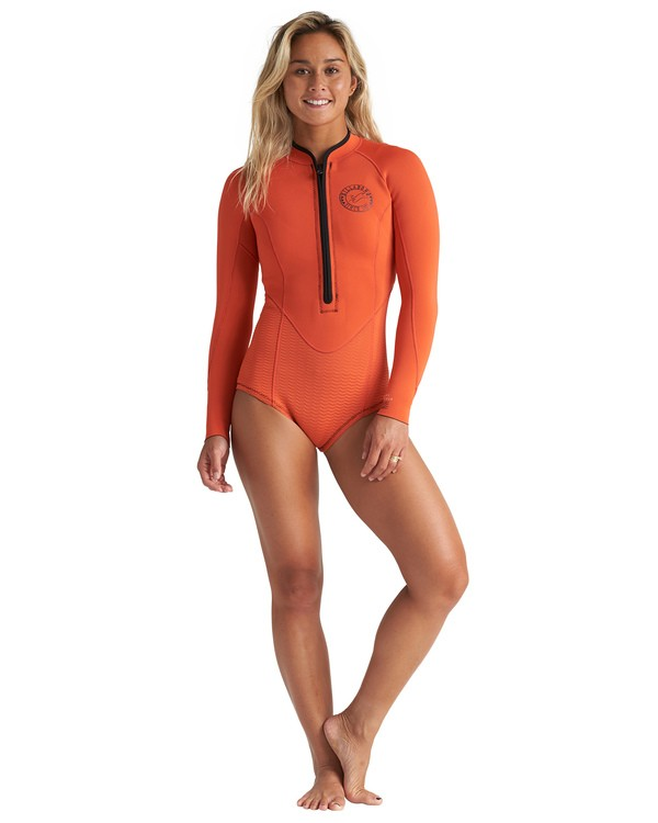 0 2mm Salty Dayz Long Sleeve Springsuit Orange JWSP1BSA Billabong