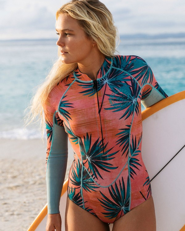 0 2mm Salty Dayz Long Sleeve Springsuit Pink JWSPTBSA Billabong