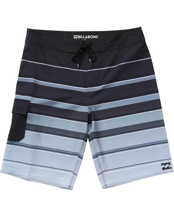 0 Boys' (2-7) All Day X Stripe Boardshorts Black K125NBAS Billabong