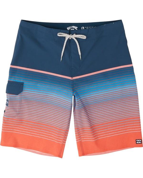 "0 Boys' (2-7) All Day Stripe Pro Boardshorts 14"" Multicolor K1341BSP Billabong"