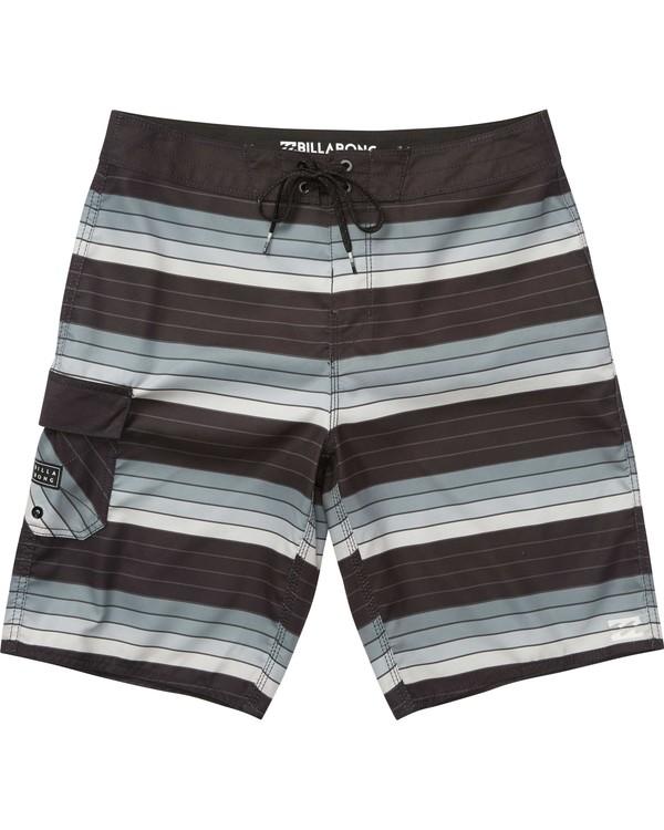 0 Boys' (2-7) All Day OG Stripe Boardshorts Grey K165NBAS Billabong
