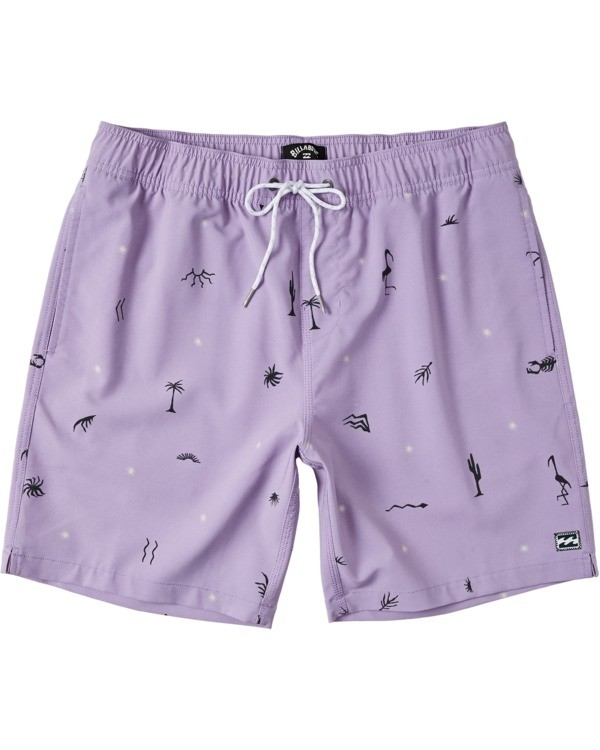 "0 Boys' (2-7) Sundays Layback Boardshort 13"" Purple K1803BSB Billabong"