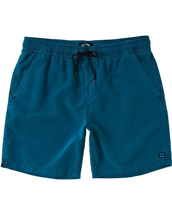 "0 Boys' (2-7) All Day Overdye Layback Boardshorts 16"" Multicolor K1821BAB Billabong"