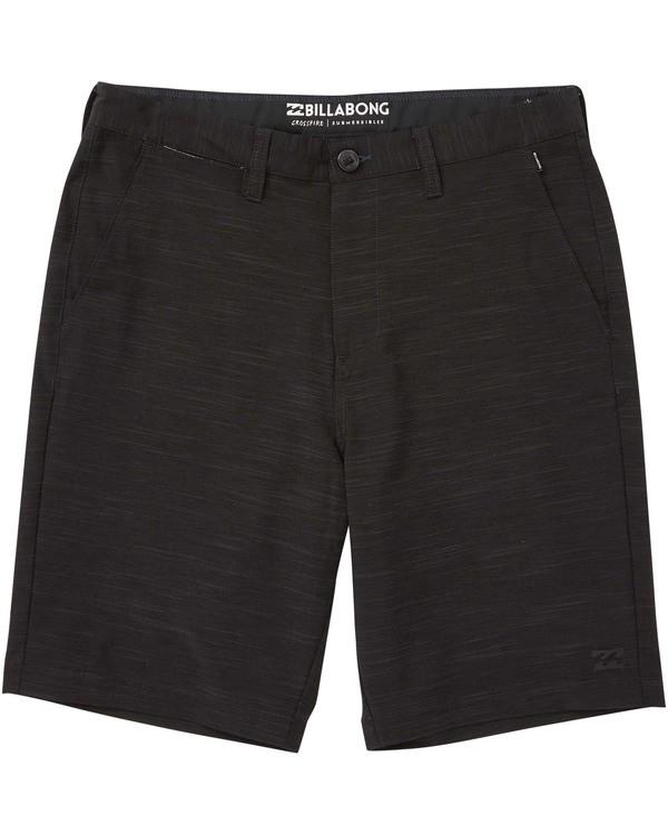 0 Boys' (2-7) Crossfire X Slub Shorts Black K202TBCS Billabong