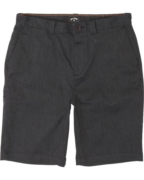 "0 Boys' (2-7) Carter Stretch Walkshort 14"" Black K2361BCS Billabong"