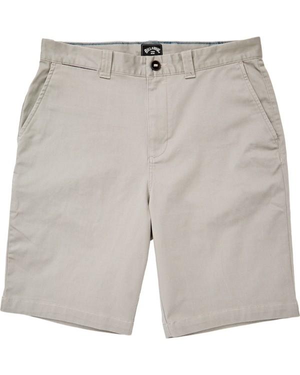 0 Boys' (2-7) Carter Stretch Walkshort Grey K2361BCS Billabong