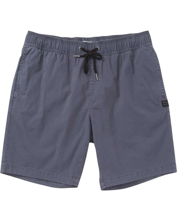 0 Boys' (2-7) Larry Layback Boardshorts Grey K239TBLL Billabong
