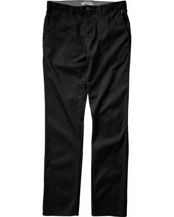0 Boys' (2-7) Carter Stretch Chino Pant Black K311LCAS Billabong