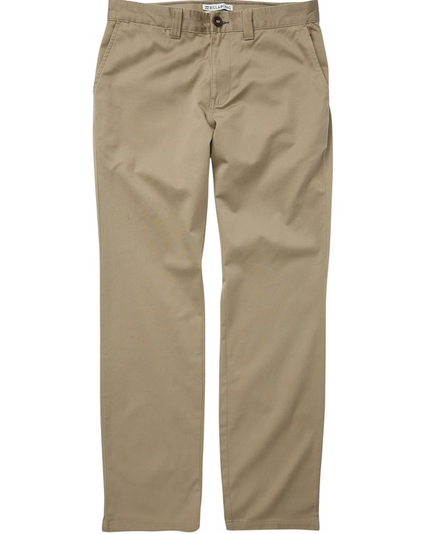 0 Boys' (2-7) Carter Stretch Chino Pants Green K314QBCS Billabong
