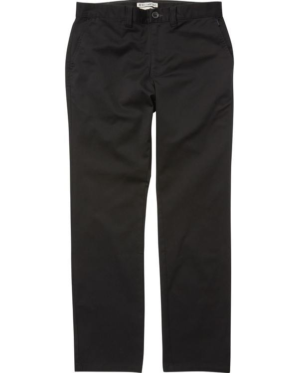 0 Boys' (2-7) Carter Stretch Chino Pants Black K314VBCS Billabong