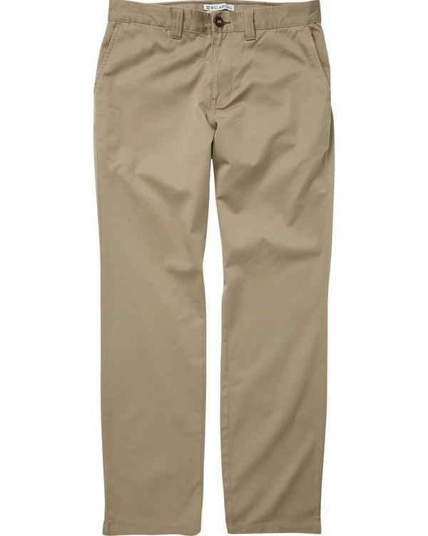 0 Boys' (2-7) Carter Stretch Chino Pants Grey K314VBCS Billabong