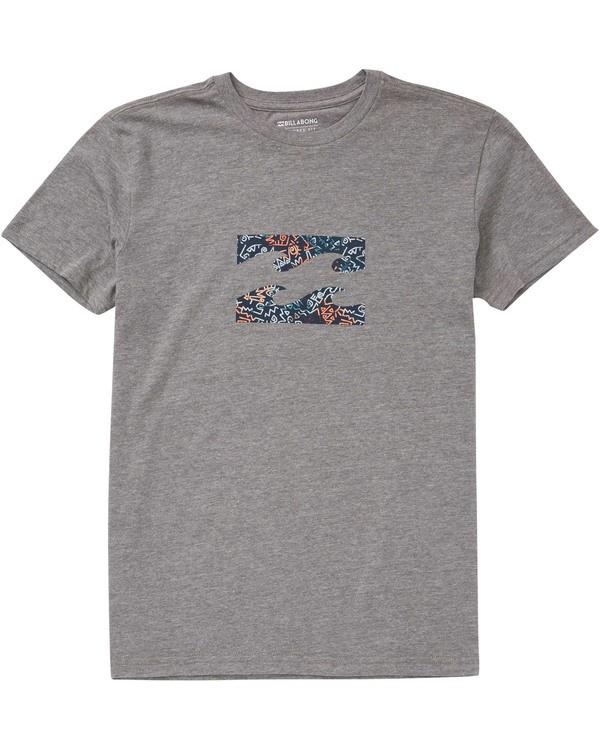 0 Boys' (2-7) Team Wave T-Shirt Grey K404TBTE Billabong