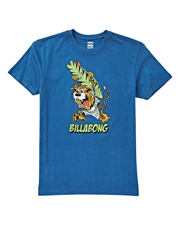 0 Boys' (2-7) Tigey T-Shirt Blue K404VBTI Billabong