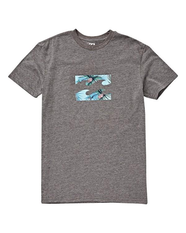 0 Boys' (2-7) Teamwave T-Shirt Grey K404VBTW Billabong