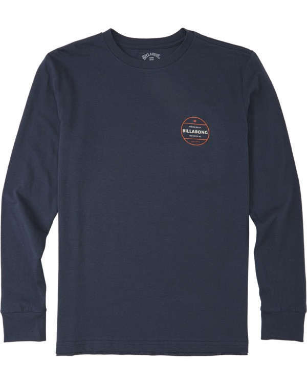 0 Boys' (2-7) Rotor Long Sleeve T-Shirt Blue K4053BRO Billabong