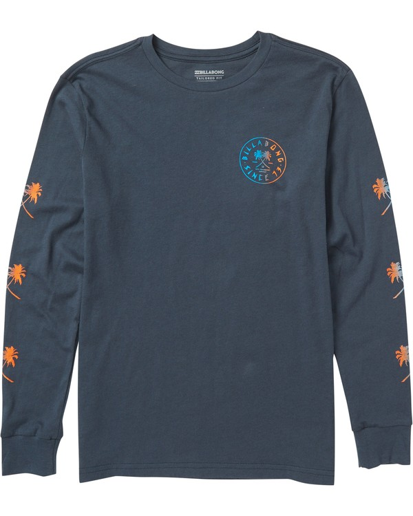 0 Kids' Tendencies Long Sleeve Tee Shirt Blue K405SBTE Billabong