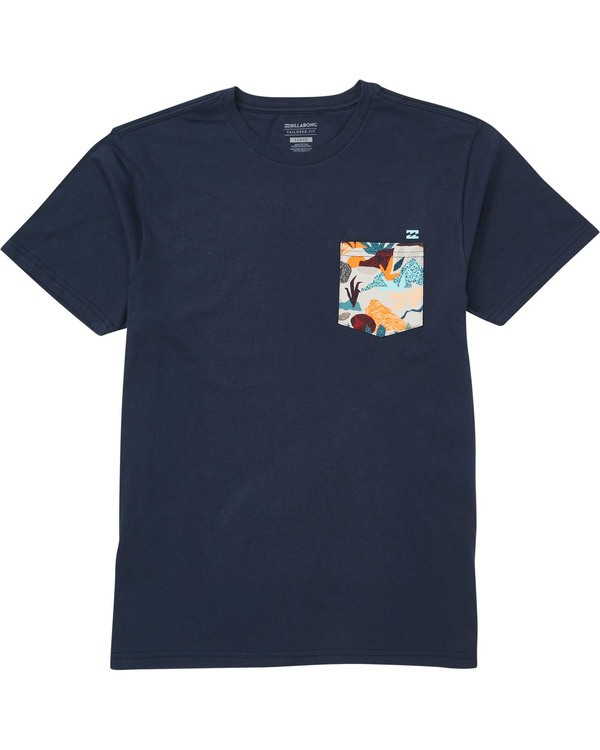 0 Boys' (2-7) Team Pocket Tee Blue K433TBTP Billabong