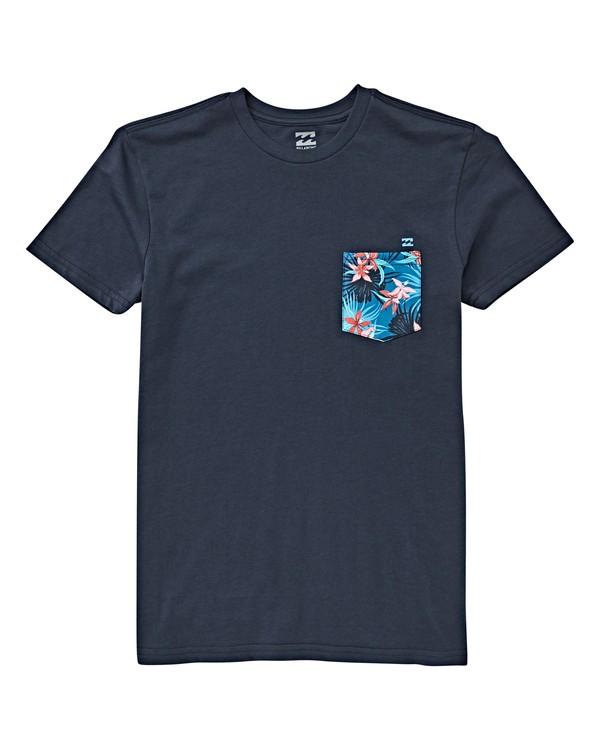 0 Boys' (2-7) Teampocket T-Shirt Blue K433VBTP Billabong