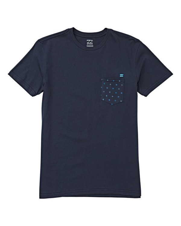 0 Boys' (2-7) Team Pocket Short Sleeve T-Shirt Blue K433WBTP Billabong