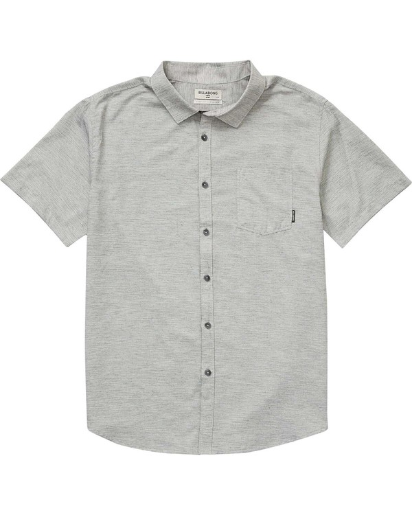 0 Boys' (2-7) All Day Helix Short Sleeve Shirt Grey K500NBAL Billabong