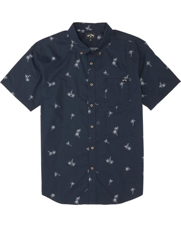 0 Boys' (2-7) Sundays Mini Short Sleeve Shirt Blue K5031BSM Billabong