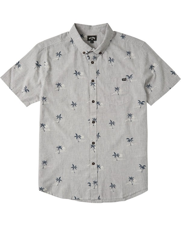 0 Boys' (2-7) Sundays Mini Short Sleeve Shirt Grey K5033BSM Billabong