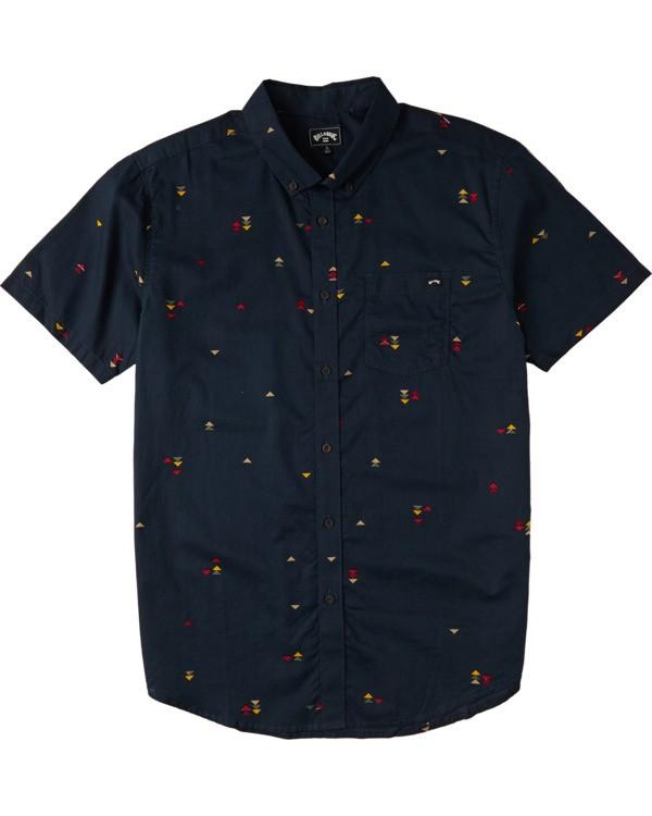 0 Boys' (2-7) Sundays Mini Short Sleeve Shirt Blue K5033BSM Billabong