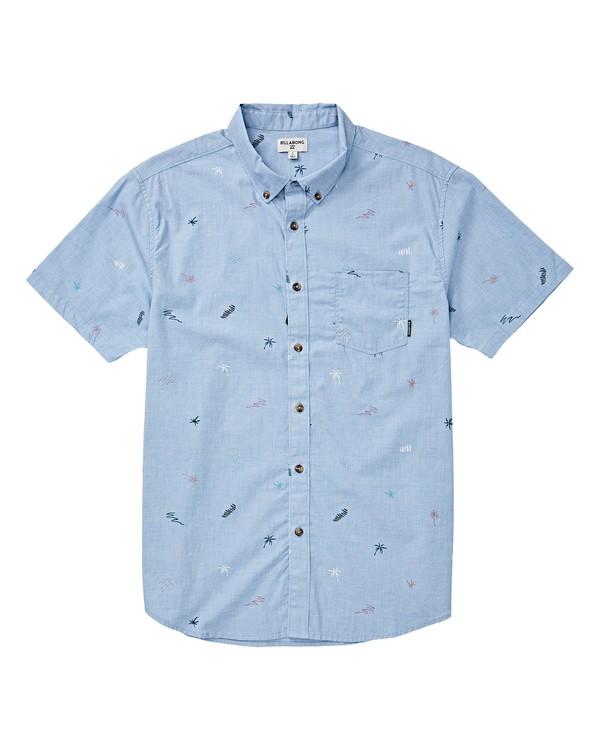 0 Boys' (2-7) Sundays Mini Short Sleeve Shirt Blue K503VBSM Billabong