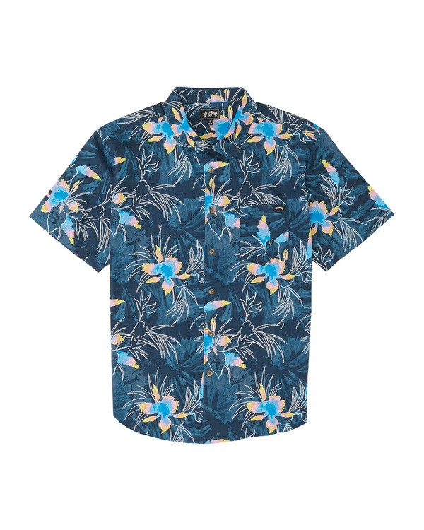 0 Boys' (2-7) Sundays Floral Short Sleeve Shirt  K5041BSF Billabong