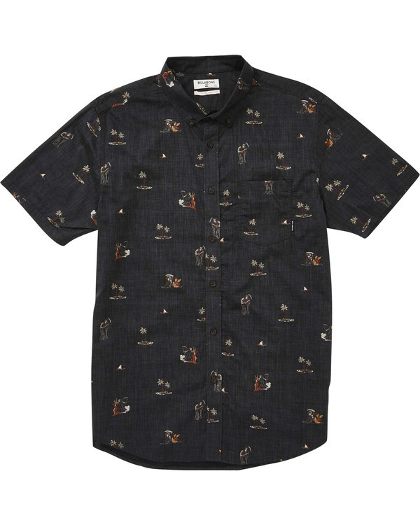 0 Boys' (2-7) Sundays Floral Short Sleeve Shirt  K504TBSF Billabong