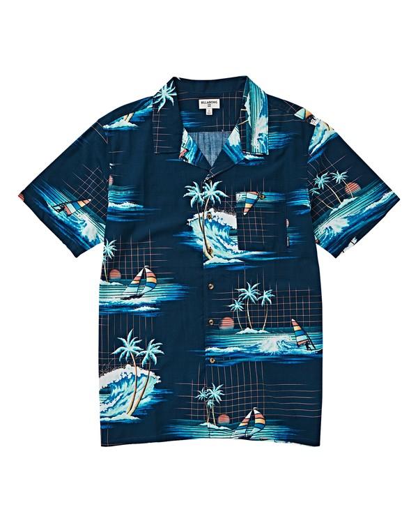 0 Boys' (2-7) Sundays Floral Short Sleeve Shirt Blue K504VBSF Billabong