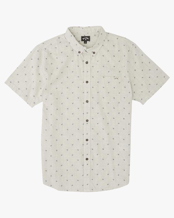 0 Boys' (2-7) All Day Jacquard Short Sleeve Shirt Red K5073BSJ Billabong