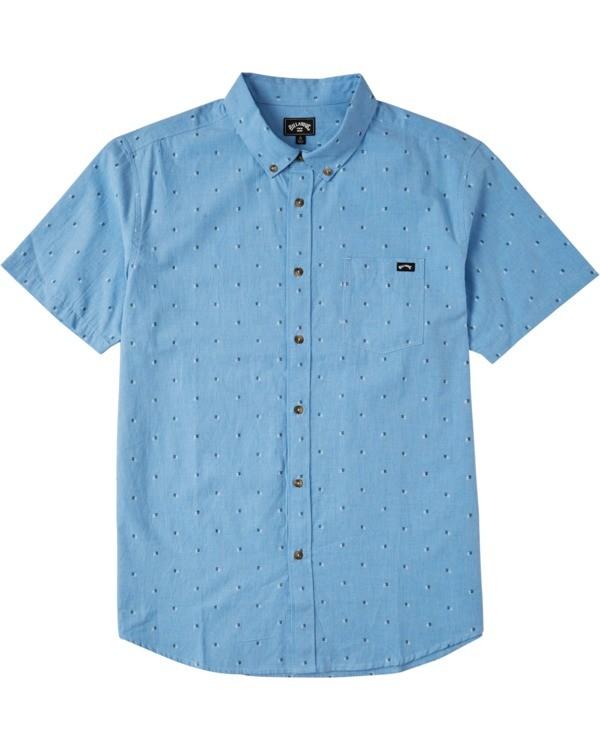 0 Boys' (2-7) All Day Jacquard Short Sleeve Shirt Purple K5073BSJ Billabong