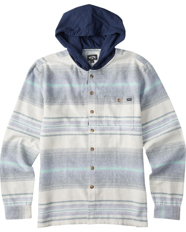 0 Boys' (2-7) Baja Flannel Shirt Blue K5213BBF Billabong