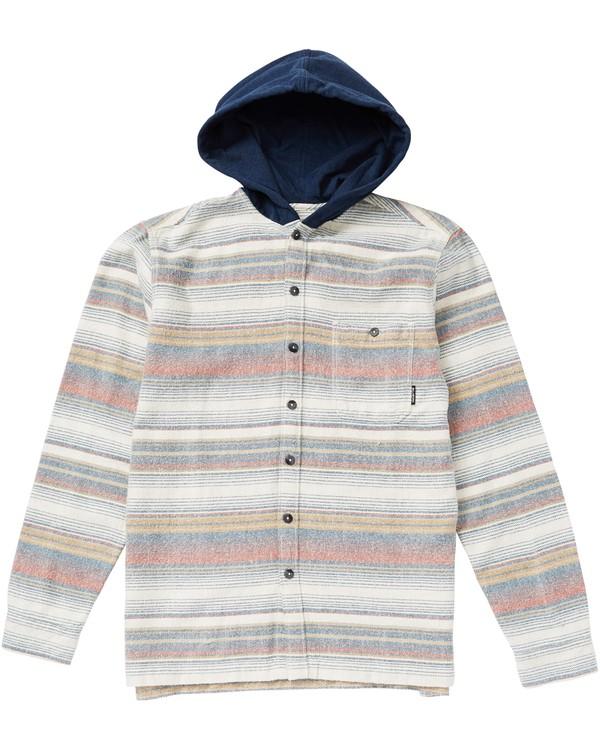 0 Kids' Baja Flannel Shirt Hooded Flannel Shirt  K526SBBF Billabong
