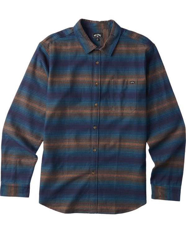 0 Boys' (2-7) Coastline Long Sleeve Shirt Blue K5323BCO Billabong
