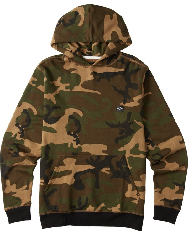 0 Boys' (2-7) All Day Pullover Hoodie Black K6403BAP Billabong