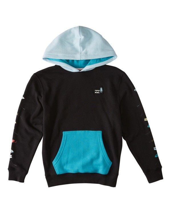 0 Boys' (2-7) One Fish Two Fish Pullover Hoodie Black K6403BON Billabong