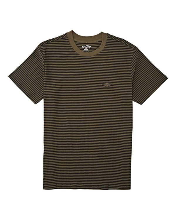 0 Boys' (2-7) Die Cut Stripe Short Sleeve Crew T-Shirt Green K9041BDI Billabong