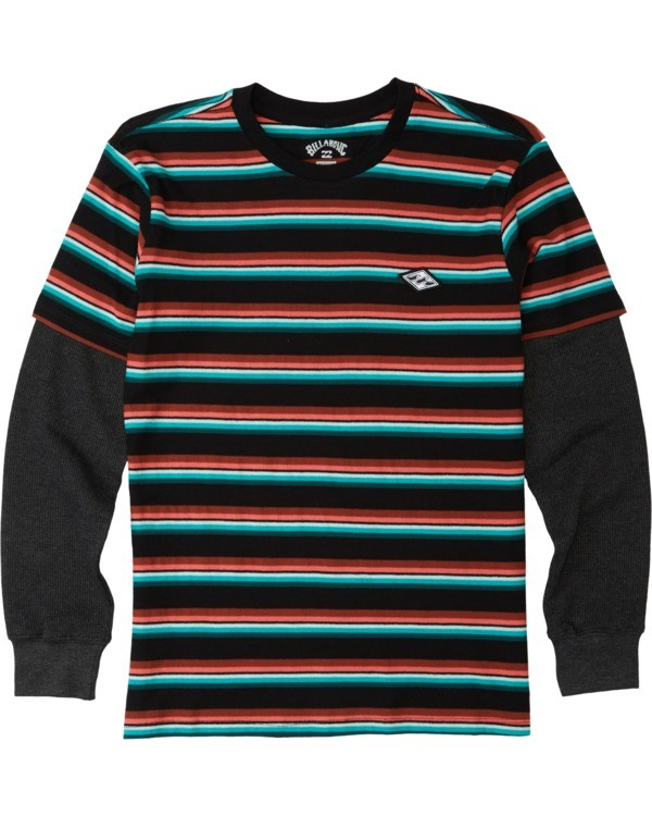 0 Boys' (2-7) Die Cut Twofer Shirt Black K9053BTW Billabong