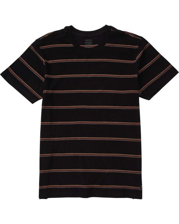 0 Boys' (2-7) Die Cut Stripe Ss Cr Black K905TBDI Billabong