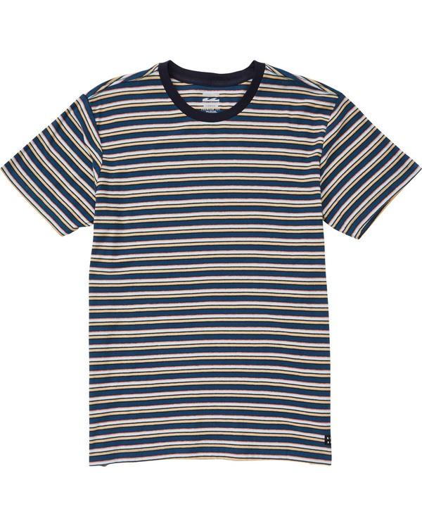 0 Boys' (2-7) Die Cut Stripe Ss Cr Blue K905TBDI Billabong