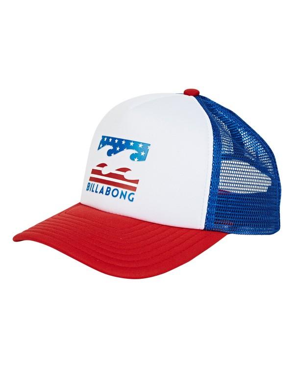 0 Boys' Podium Trucker Hat Red KAHWTBPO Billabong