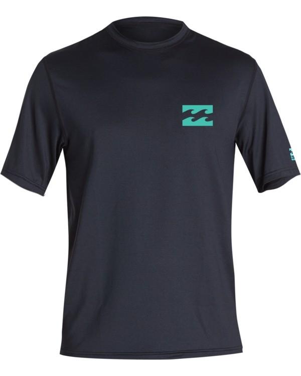 0 Boys' (2-7) Warchild Loose Fit Short Sleeve Surf Shirt Black KR011BWC Billabong