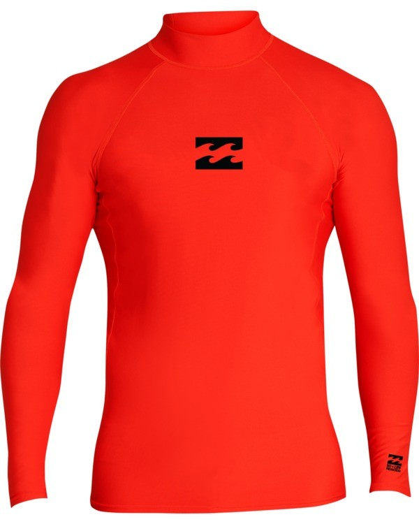 0 Boys' (2-7) All Day Wave Performance Fit Long Sleeve Rashguard Red KR601BAL Billabong