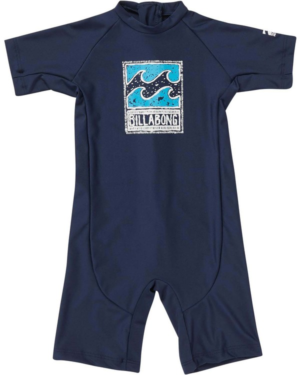 0 Toddlers Unity One Piece Rashguard Blue KR89NBUN Billabong
