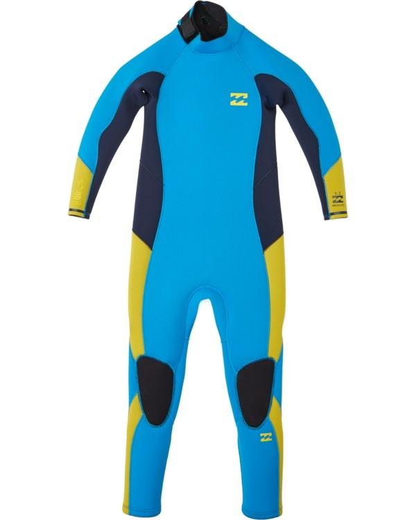 0 3/2 Boy's (2-7) Absolute Back Zip Long Sleeve Full Wetsuit Blue KWFU3BA3 Billabong